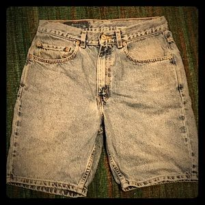 Vintage Levi's jean shorts made in Mexico